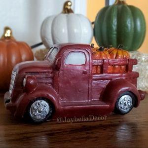 Red Truck for Farmhouse Fall Decor